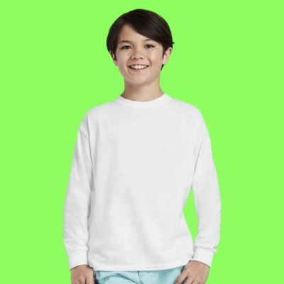 Gildan Youth Heavy Cotton ™ 100% Cotton Long Sleeve T Shirt Thumbnail